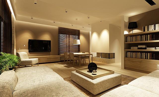 Wiat em namalowany niezwyk y klimat salonu o wietlenie domu blog o o wie - Decorer son salon salle a manger ...
